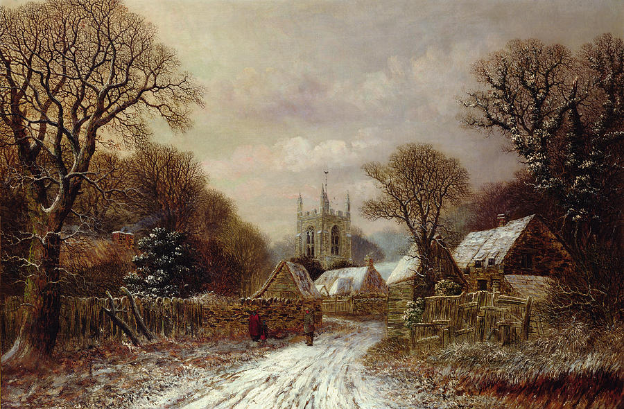 Gretton In Northamptonshire Painting By Charles Leaver