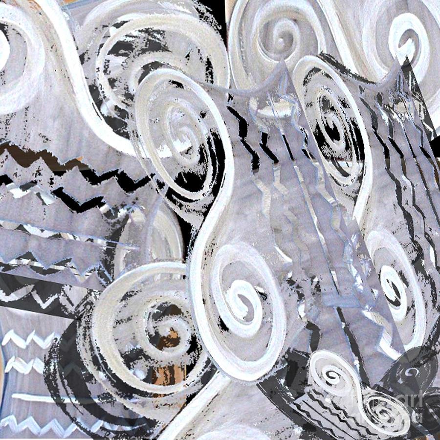 Digital Digital Art - Grey Abstraction 1 by Eva-Maria Becker
