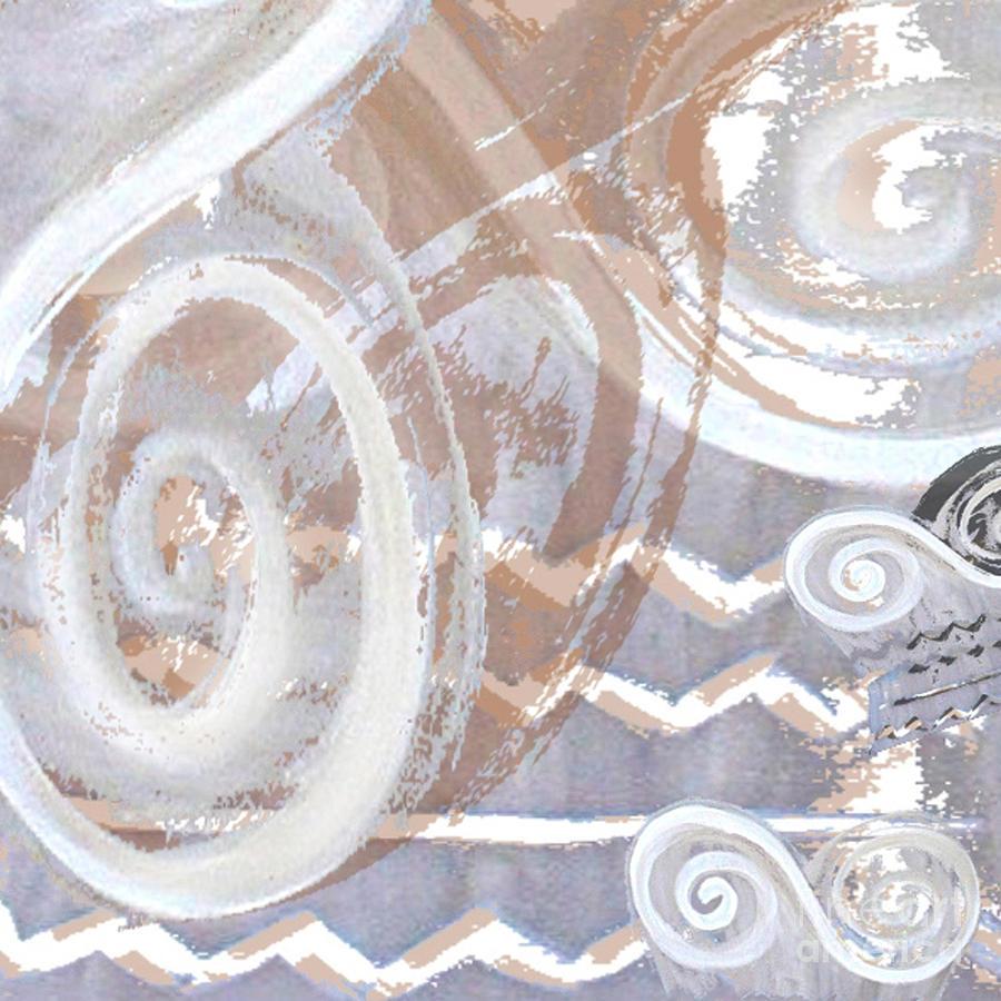Digital Digital Art - Grey Abstraction 2 by Eva-Maria Becker