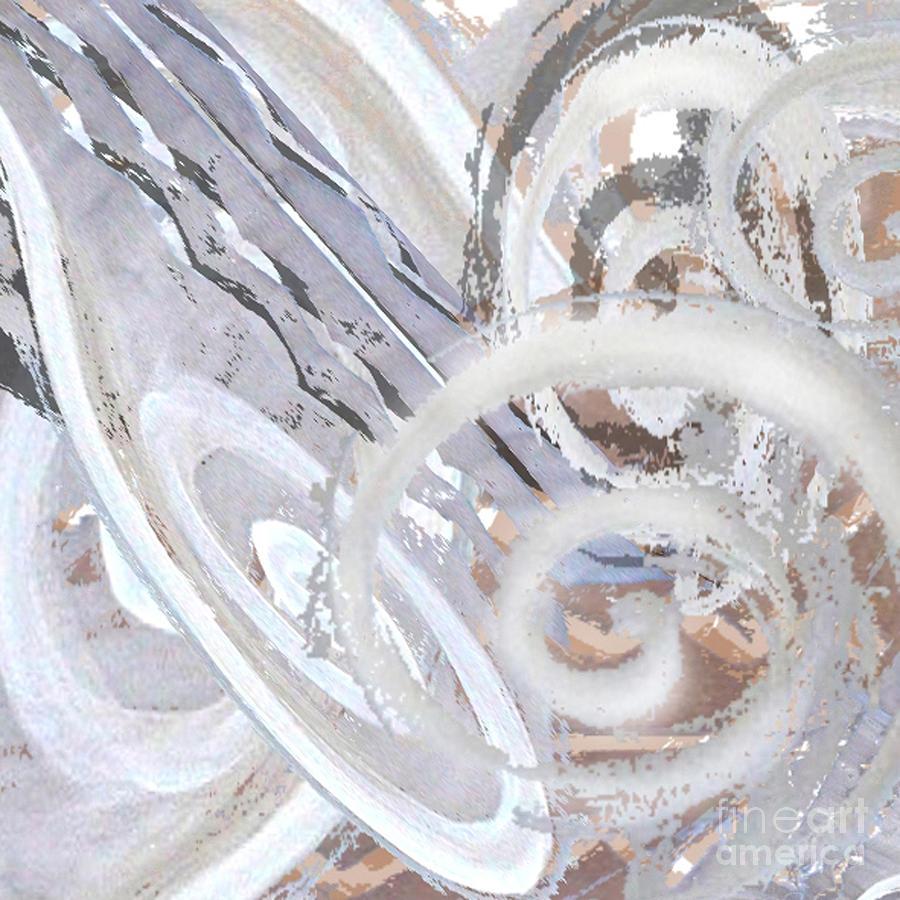 Digital Digital Art - Grey Abstraction 3 by Eva-Maria Becker