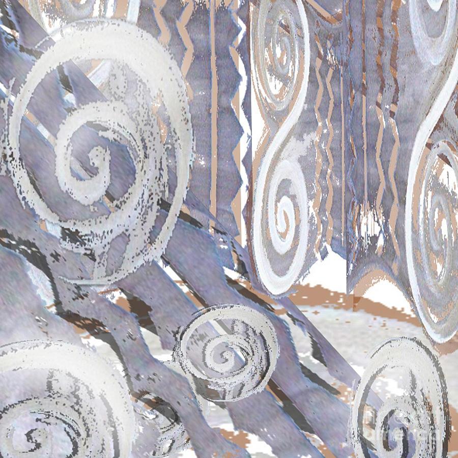 Digital Digital Art - Grey Abstraction 4 by Eva-Maria Becker
