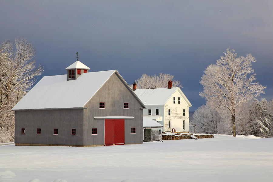 Grey Barn by Larry Landolfi