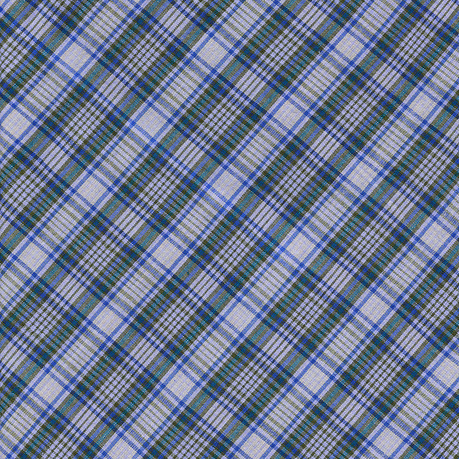 Grey Blue And Green Diagnoal Plaid Fabric Background