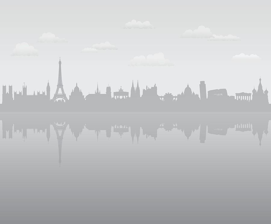 Grey Europe Digital Art by Leontura