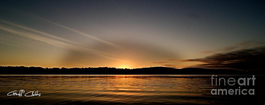 Art Photograph - Grey Heaven - Sunrise Panorama by Geoff Childs