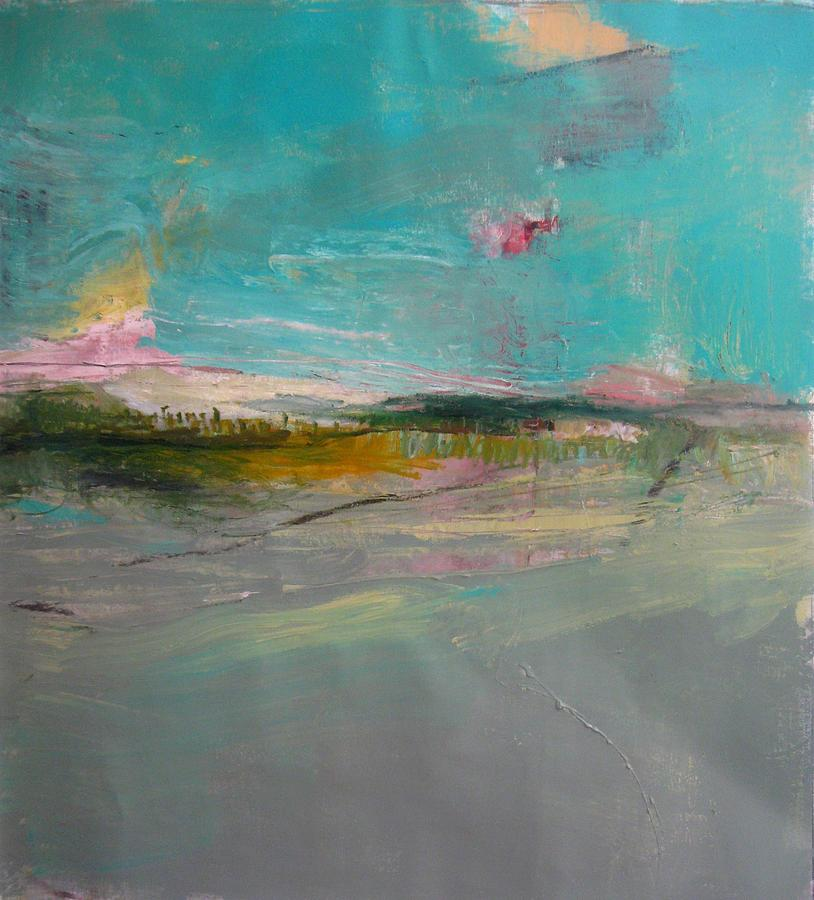 Abstract Landscape Painting - Grey Landscape by Brooke Wandall