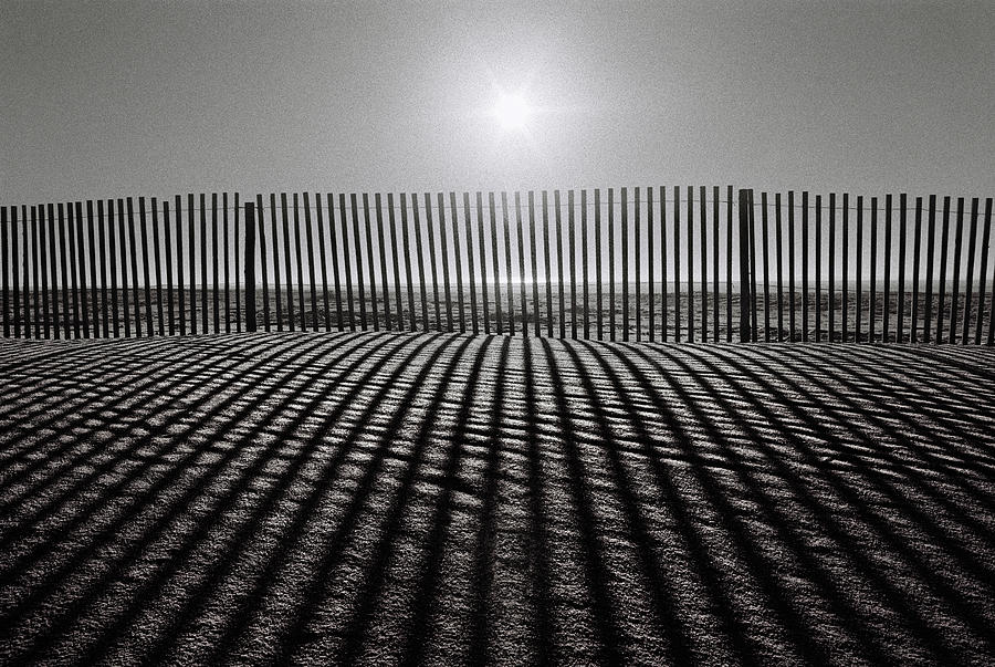 Fence Photograph - Grey Over Grey by Paulo Abrantes