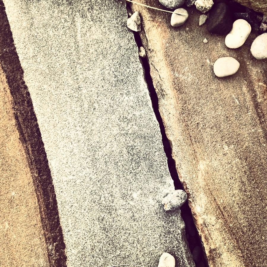 Grey Photograph - Grey Stone Abstract by Christy Beckwith