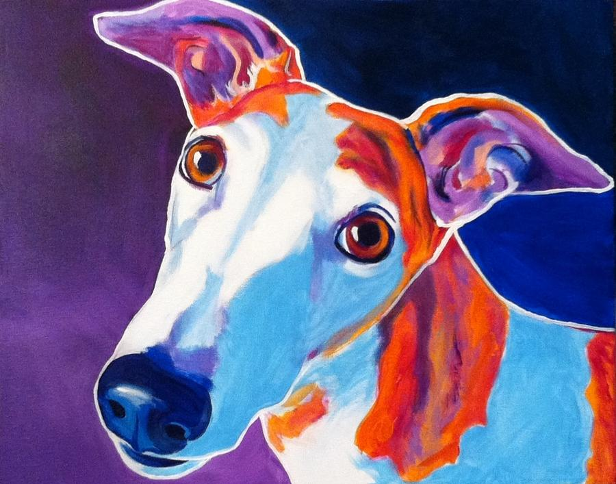 Greyhound Painting - Greyhound - Halle by Alicia VanNoy Call