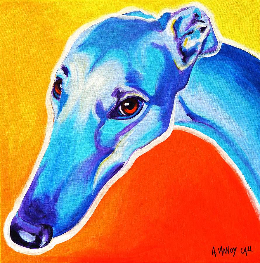 Greyhound Painting - Greyhound - Lizzie by Alicia VanNoy Call