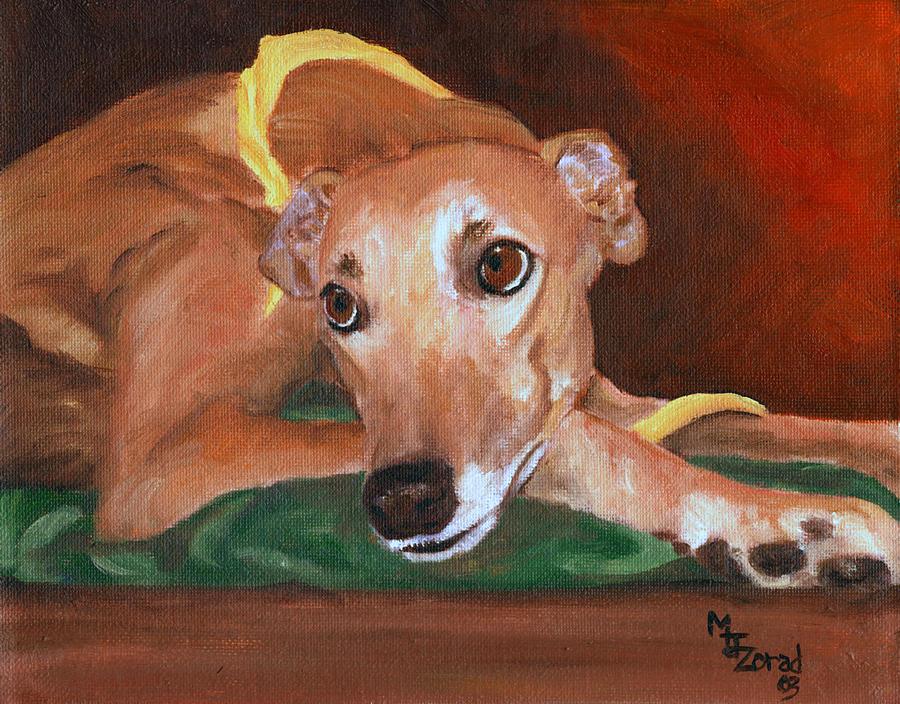 Greyhound Pout by Mary Jo Zorad