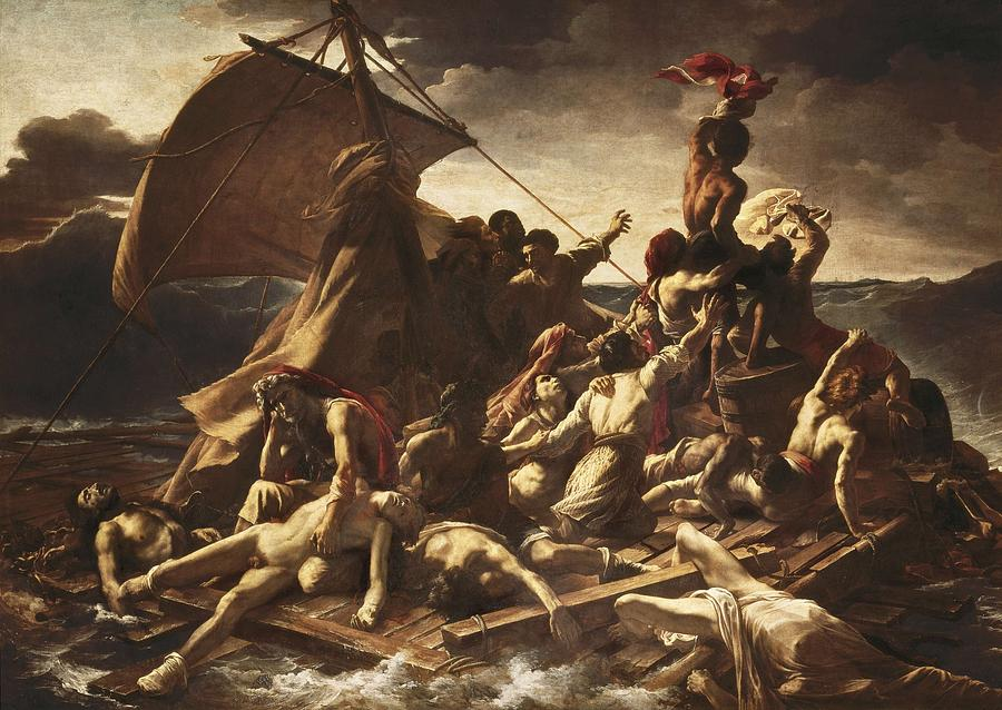 Horizontal Photograph - GÉricault, Théodore 1791-1824. The Raft by Everett
