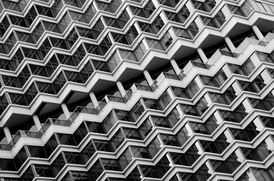 B&w Photograph - Grid Lines by Louis Dallara