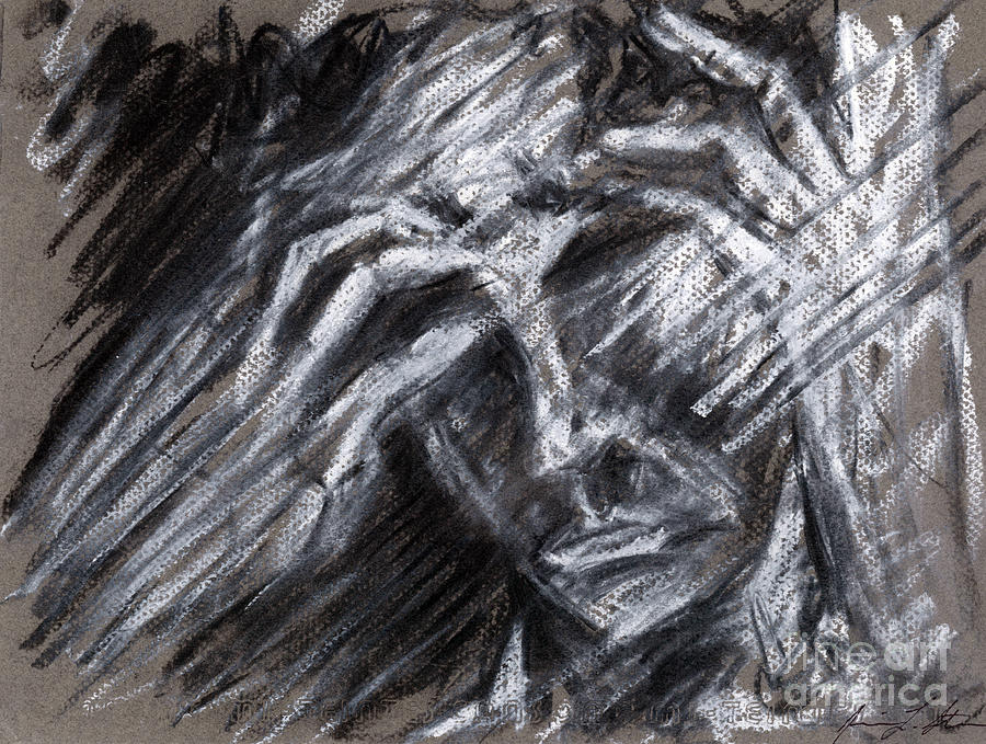 Face Drawing - Grief  by Jessica Sturges