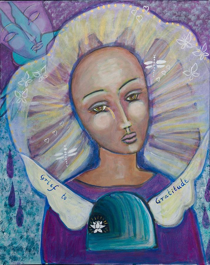 Grief Painting - Grief To Gratitude by Havi Mandell