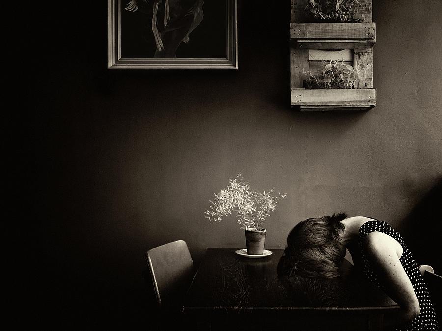 Breda Photograph - Grief by Ton Dirven