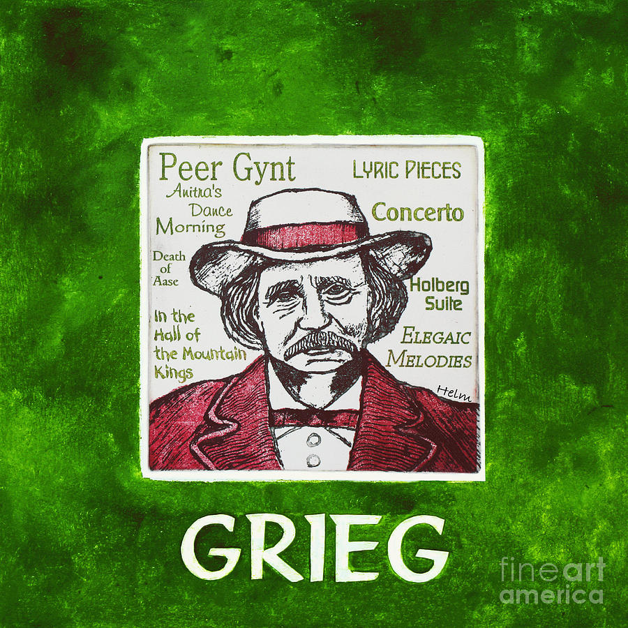 Grieg Mixed Media - Grieg by Paul Helm