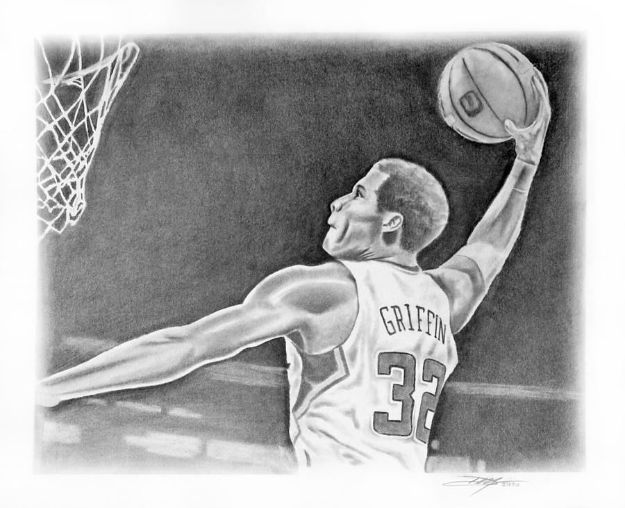 Clippers Drawing - Griffin by Don Medina