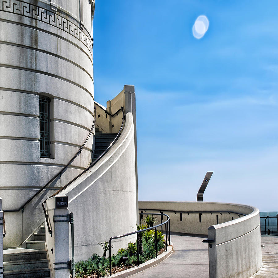 Griffith Observatory Photograph - Griffith Stairs by Camille Lopez