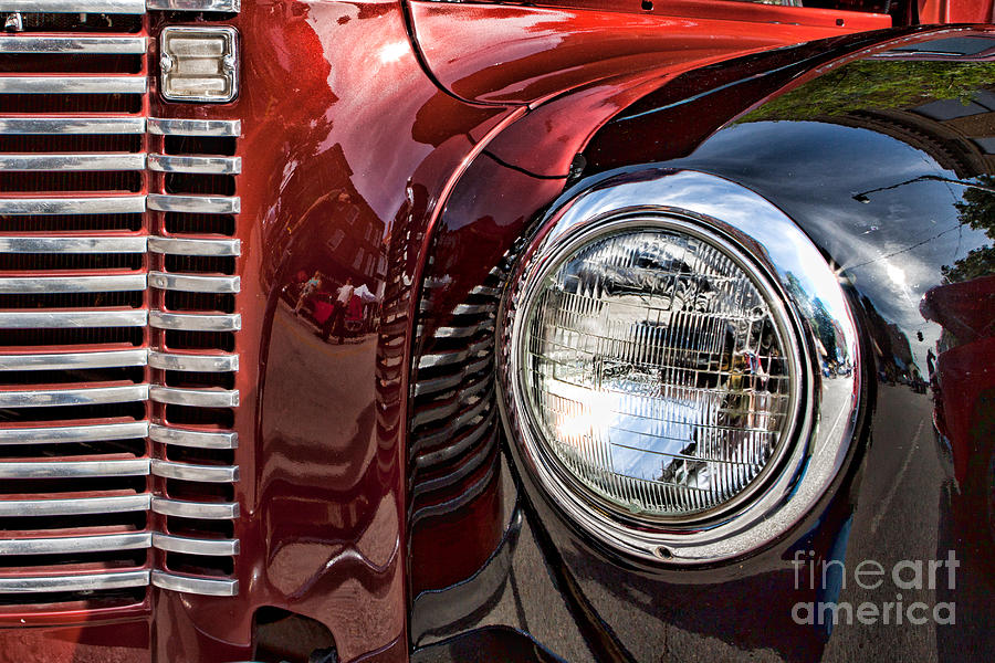 Abstract Photograph - Grill And Headlamp by Lawrence Burry