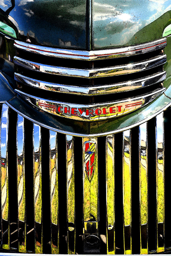 1941 Chevy Photograph - Grilled by Craig Burgwardt