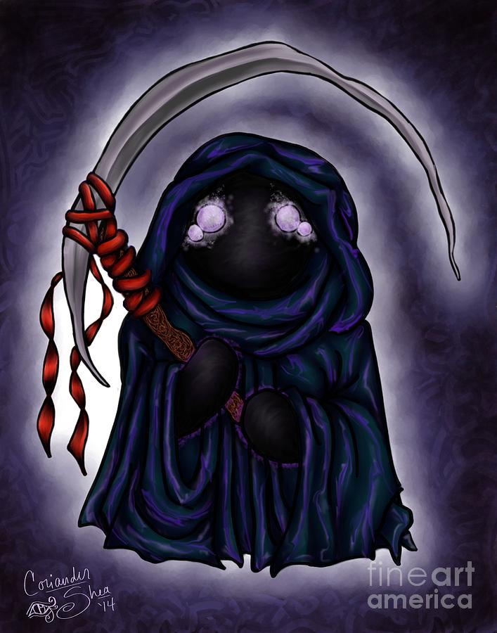 Halloween Digital Art - Grim Reapie by Coriander  Shea