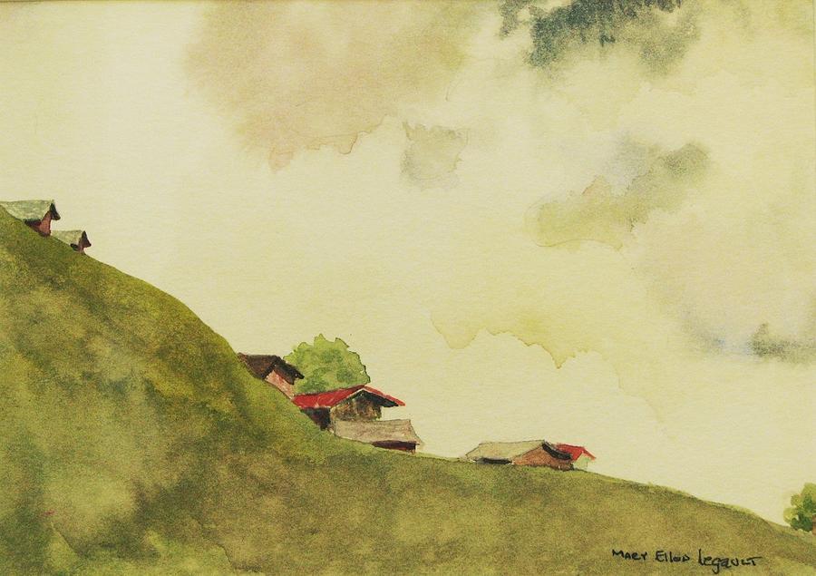 Swiss Painting - Grindelwald Dobie Inspired by Mary Ellen Mueller Legault