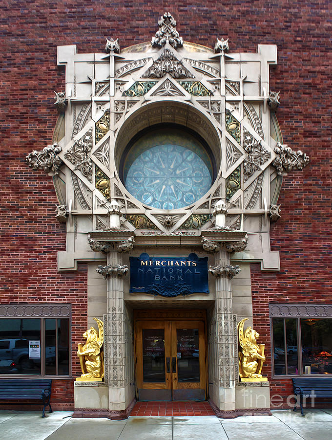 Grinnell Iowa Photograph - Grinnell Iowa - Louis Sullivan - Jewel Box Bank - 05 by Gregory Dyer