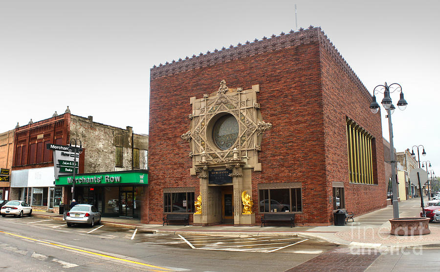 Grinnell Iowa Photograph - Grinnell Iowa - Louis Sullivan - Jewel Box Bank - 02 by Gregory Dyer