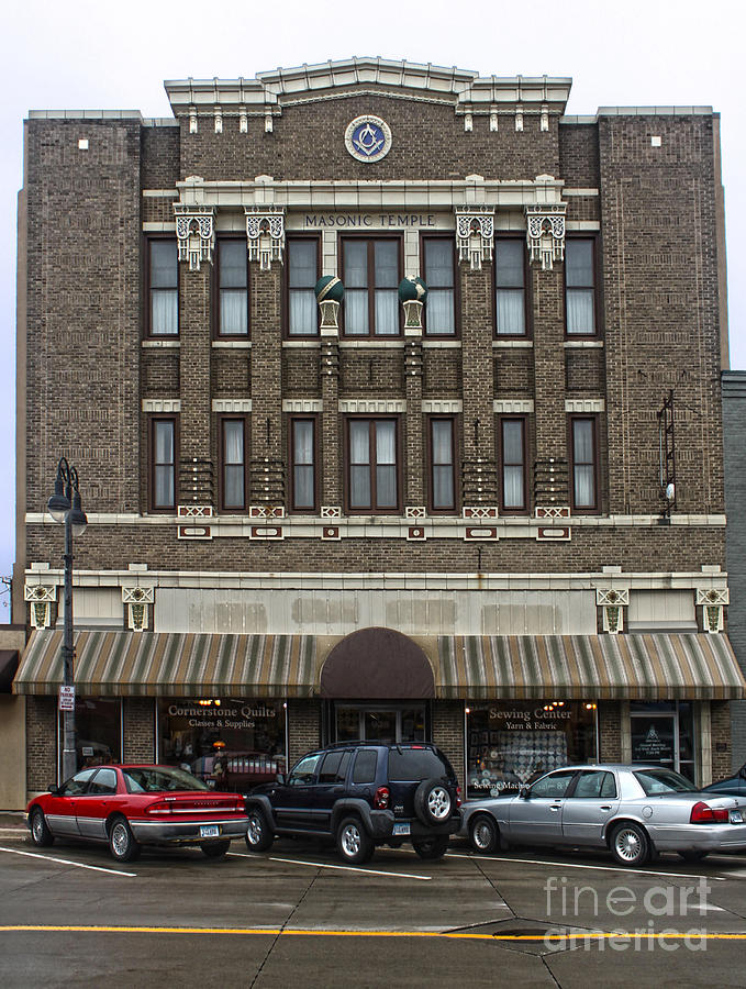 Masonic Temple Photograph - Grinnell Iowa - Masonic Temple -02 by Gregory Dyer