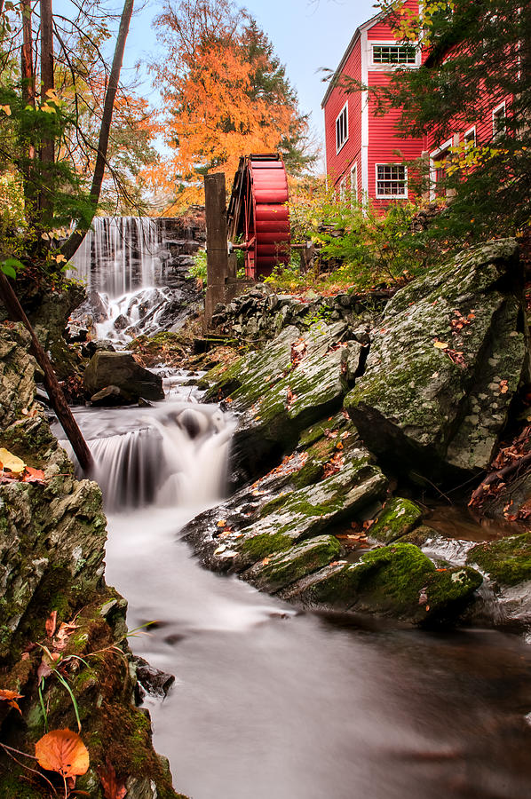 Grist Mill Photograph - Grist Mill-bridgewater Connecticut by Expressive Landscapes Fine Art Photography by Thom