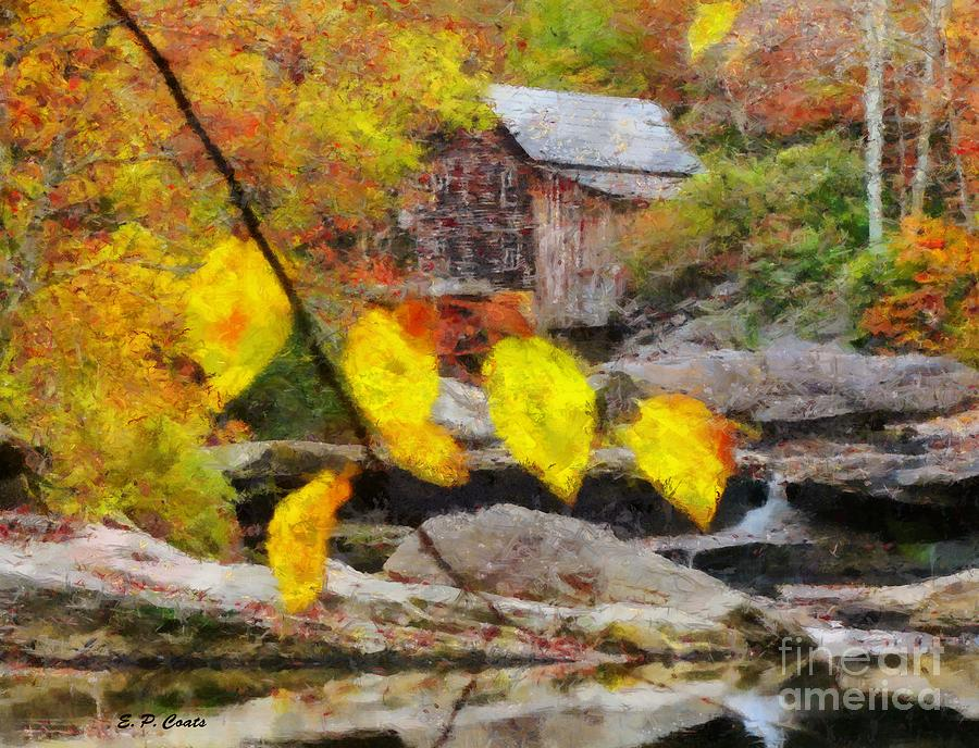 Grist Mill Painting - Grist Mill by Elizabeth Coats