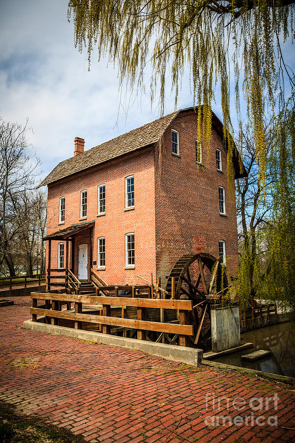 America Photograph - Grist Mill In Deep River County Park by Paul Velgos