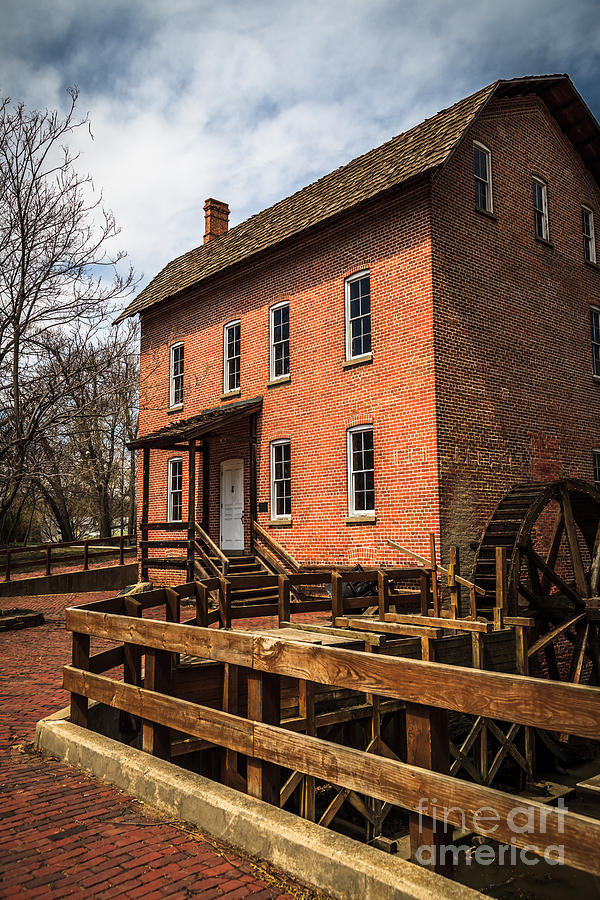 1800's Photograph - Grist Mill In Hobart Indiana by Paul Velgos
