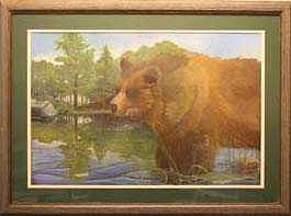 Grizzly Painting - Grizzly by Rick Huotari