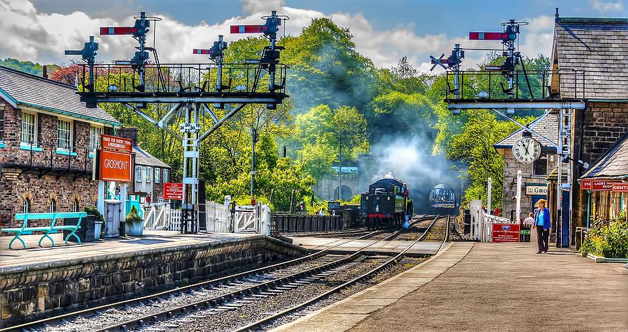 North Yorkshire Moors Railway Photograph - Grosmont Railway Station by Trevor Kersley