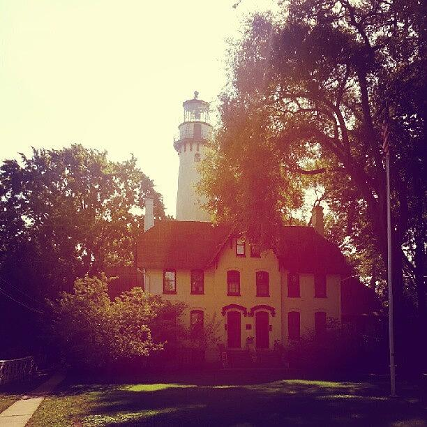 Lighthouse Photograph - Grosse Point Lighthouse 1873 by Jill Tuinier