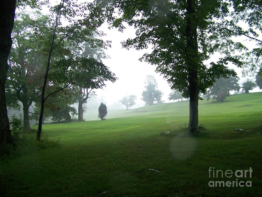 Grossingers Photograph - Grossinger Golf Course Rainy Day  by Kevin Croitz