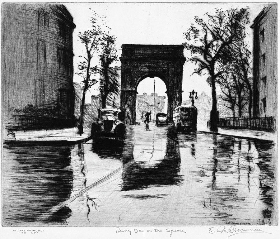 1930s Painting - Grossman Square, C1940 by Granger