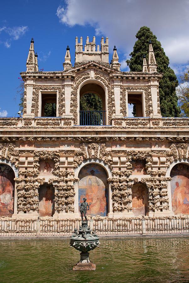 Seville Photograph - Grotesque Gallery In Real Alcazar Of Seville by Artur Bogacki