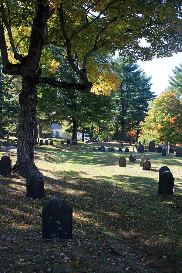 Cemetery Photograph - Groton Cemetery 1 by Mary Bedy