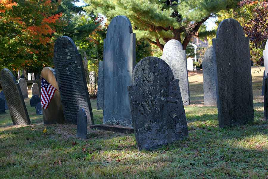 Cemetery Photograph - Groton Cemetery 3 by Mary Bedy