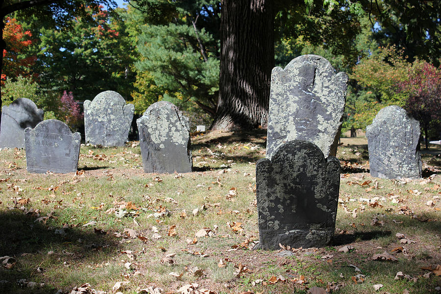 Cemetery Photograph - Groton Cemetery 5 by Mary Bedy
