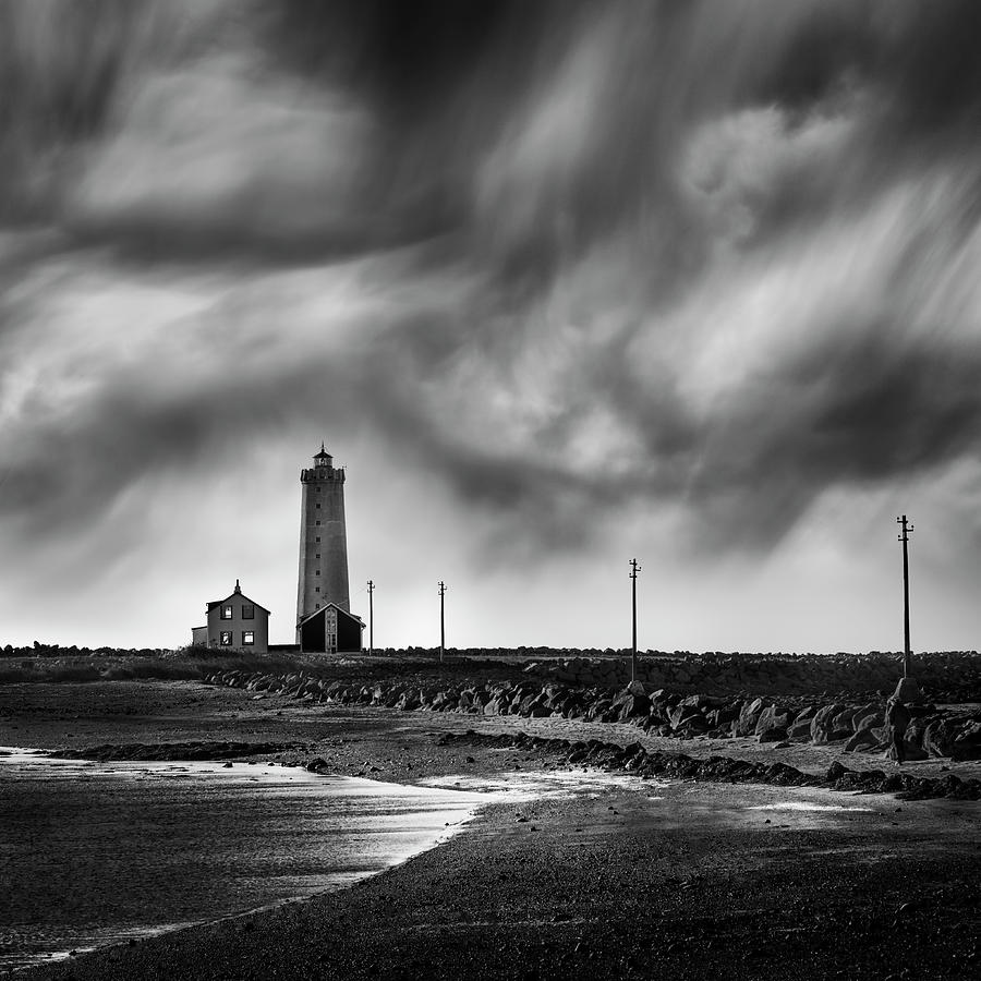 Lighthouse Photograph - Grotta Lighthouse by George Digalakis