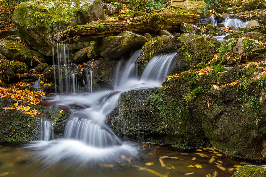 Tennessee Photograph - Grotto Falls Great Smoky Mountains Tennessee by Pierre Leclerc Photography