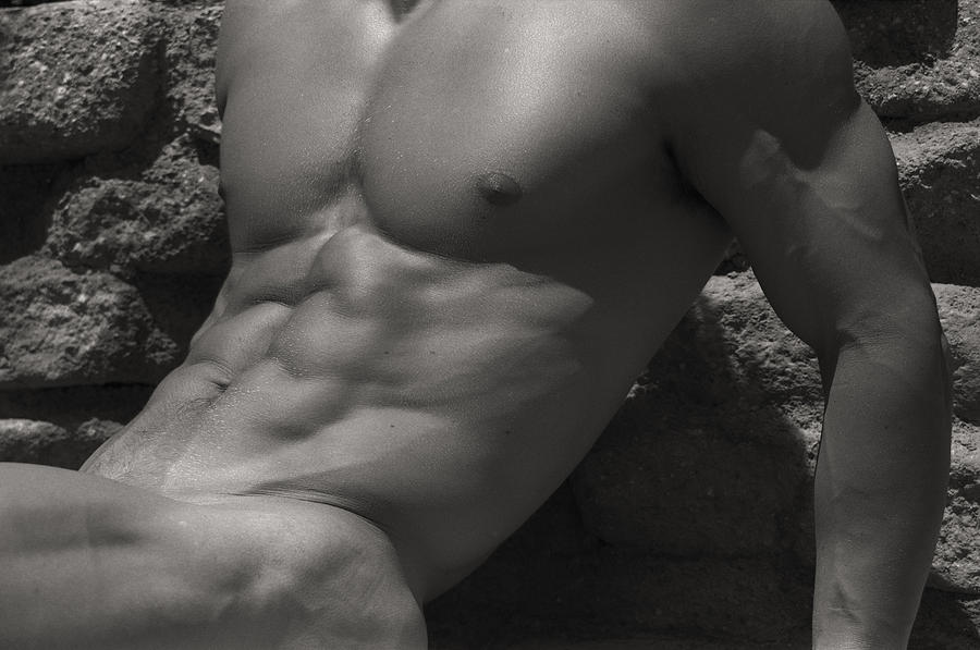 Male Nude Photograph - Grotto by Thomas Mitchell