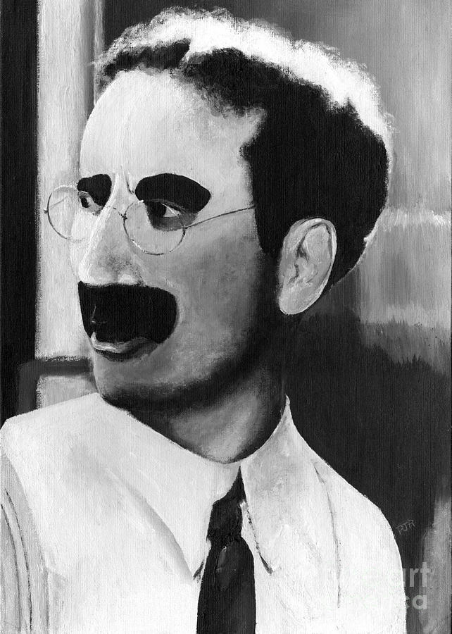 Groucho Painting - Groucho Marx by Peggy Dreher