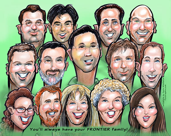 Group Digital Art - Group Gift Caricature by Kevin Middleton