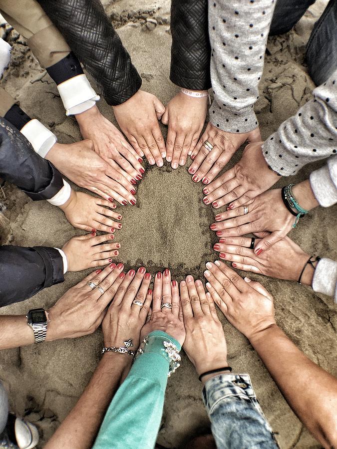 Group Of Friends Making Heart Shape Photograph by Julen Garces Carro / Eyeem