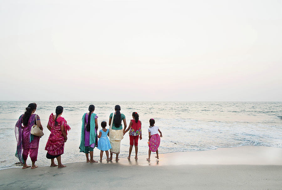 Group Of Indian Woman And Children Photograph by Gary John Norman